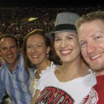 PiFD International Founder Blake Beattie and USA National Coordinator Donovan Nichols enjoying a football game with their wives.